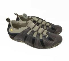 Merrell Womens Sz 8.5 EU 39 Brown Leather Bungee Strap Sports Hiking Trail 36132 - $39.99