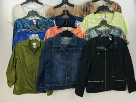 Chicos Lot of 12 Womens Size 2 Tops Blouse Jacket  FOSCC A54-02 - $96.89