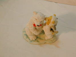 Enesco Polar Bear Angel Figures Whispering in Ear - $8.06