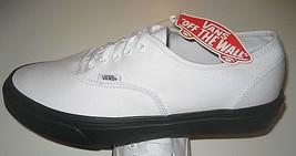 Vans Authentic Mens Black Outsole True White Canvas Skate shoes Size 8 N... - $49.48
