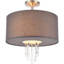 Elk Lighting 46592/3 Semi Flush Satin Nickel Glass/PVC/Steel Crystal Falls - €285,15 EUR