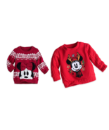Disney Store Minnie Mickey Mouse Christmas Sweater for Baby New for 2016... - £29.32 GBP