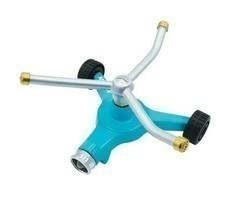 Indestructible 3-Arm Zinc Rotary 360 Degree Sprinkler  Wheeled Base  139... - £65.13 GBP