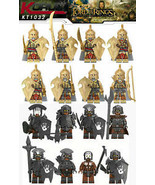 Lord Of The Rings 8 minifigures Soldiers Elfs Orcs, Uruk Hai - $12.89