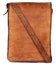 "New Men's 15"" Unisex Laptop Shoulder Rustic Soft Leather Messenger Full ... - $51.43"