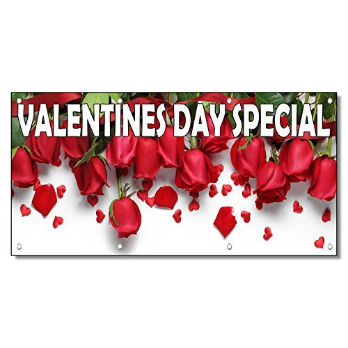 Valentines Day Special Style 2 13oz Vinyl Banner Sign With Grommets 3 Ft x 6 Ft