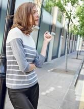 NEW Boden Lightweight Striped Wool Viscose Sweater Jumper Pullover WV044... - $23.71
