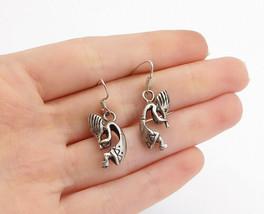 925 Sterling Silver - Vintage Petite Kokopelli Dancer Dangle Earrings - ... - $29.84