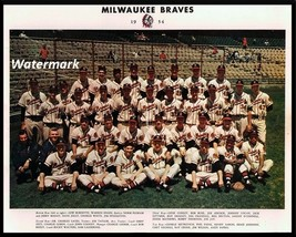 MLB 1954 Milwaukee Braves Color Team Picture Spahn Aaron 8  X 10 Photo P... - $5.99