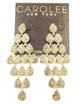 CAROLEE New York Mimosa Gold-Tone Pave Topaz-Crystal Chandelier Earrings... - $33.50