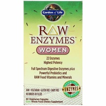 Garden of Life RAW 22 Enzymes Women Supplement 90 Capsules - $62.60