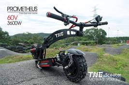 Electric Scooter TNE Prometheus 3600w 60v 25ah Lithium Battery Hydraulic Shocks  image 5