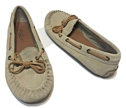 Lucky Brand Womens Moccasins Tan Leather Size 6M Flats Comfort - $22.50