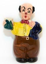 Vintage Hand Painted Barman, Waiter, Man Decanter Bottle, Japan ? Man Cave  - $19.79