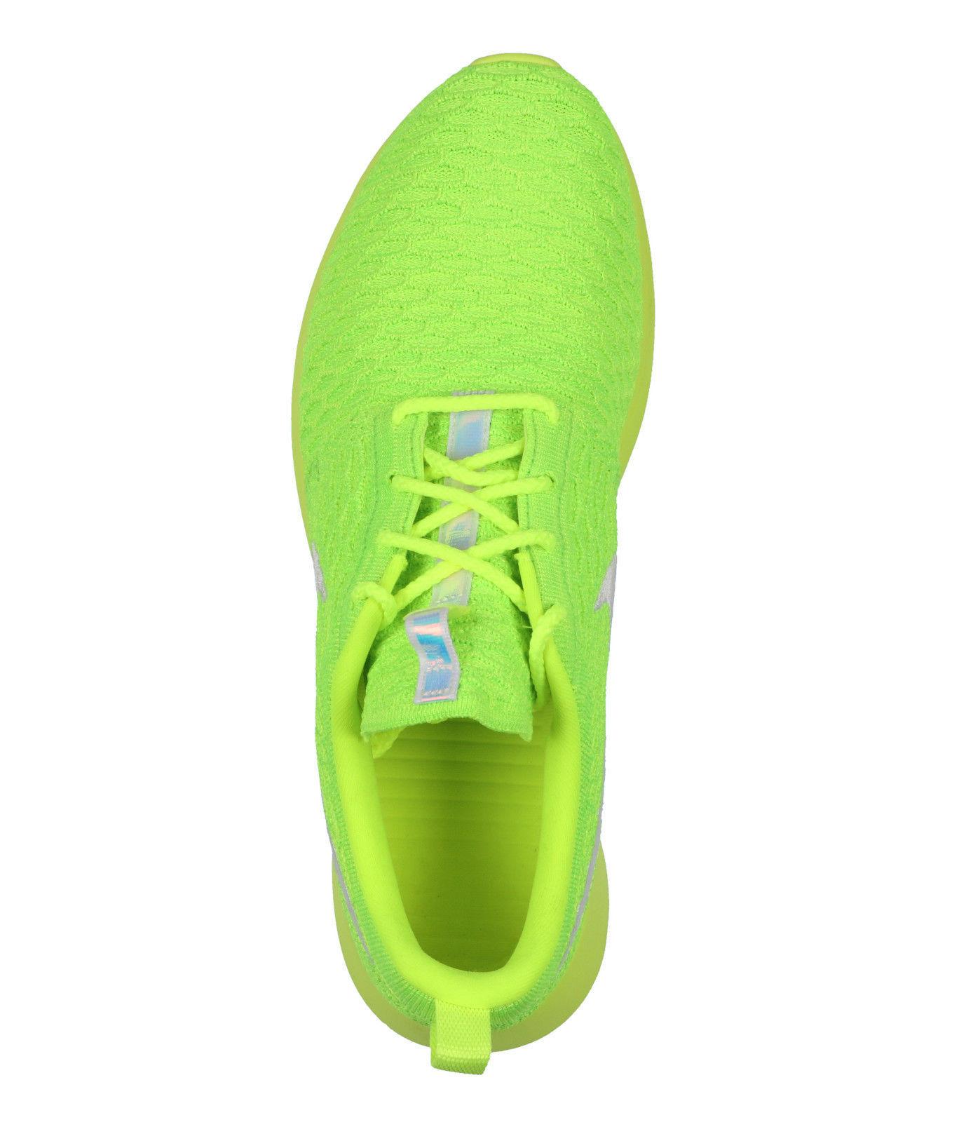 super popular 03948 8fd31 ... NIKE Roshe NM Flyknit sz 10 Volt White Electric Green Rosherun Tennis  Ball ...