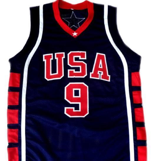 Lebron james  9 team usa new basketball jersey navy blue 1