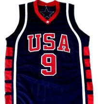 Lebron James #9 Team USA Men Basketball Jersey Navy Blue Any Size image 1