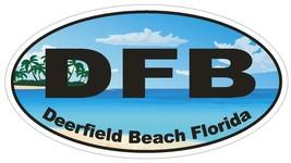 Deerfield Beach Florida Oval Bumper Sticker or Helmet Sticker D1141 - $1.39+