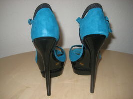 Jessica Simpson Shoes Size 8.5 M Womens New Casper Emerald Suede Open Toe Heels image 4