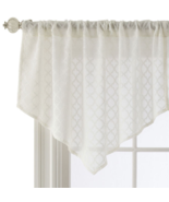 "NEW Royal Velvet Sheer Stanza Ascot Valance 40""x25"" Egret - $16.05"