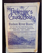 RARE Antique TAINTR'S GUIDE BOOKS Hudson River route printed in 1898 wit... - $95.99