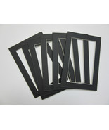 Picture Framing Mats 4x6 for 3x5 small size photo BLACK-set of 4 acid free - $2.50