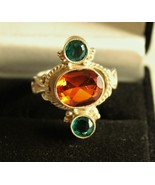 Custom - Sterling Silver and Golden Topaz Ring - $48.00