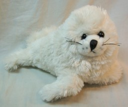 "The Petting Zoo CUTE SOFT WHITE SEAL 8"" Plush STUFFED ANIMAL Toy - $14.85"