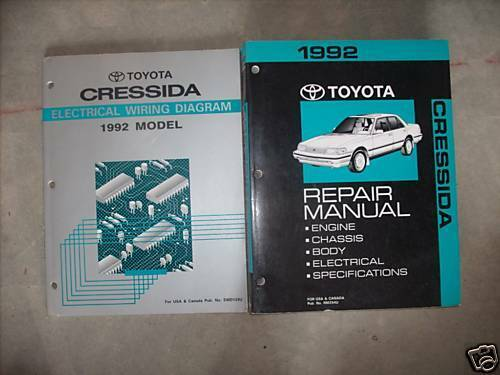 Primary image for 1992 Toyota Cressida Service Shop Repair Workshop Manual Set W EWD OEM FACTORY