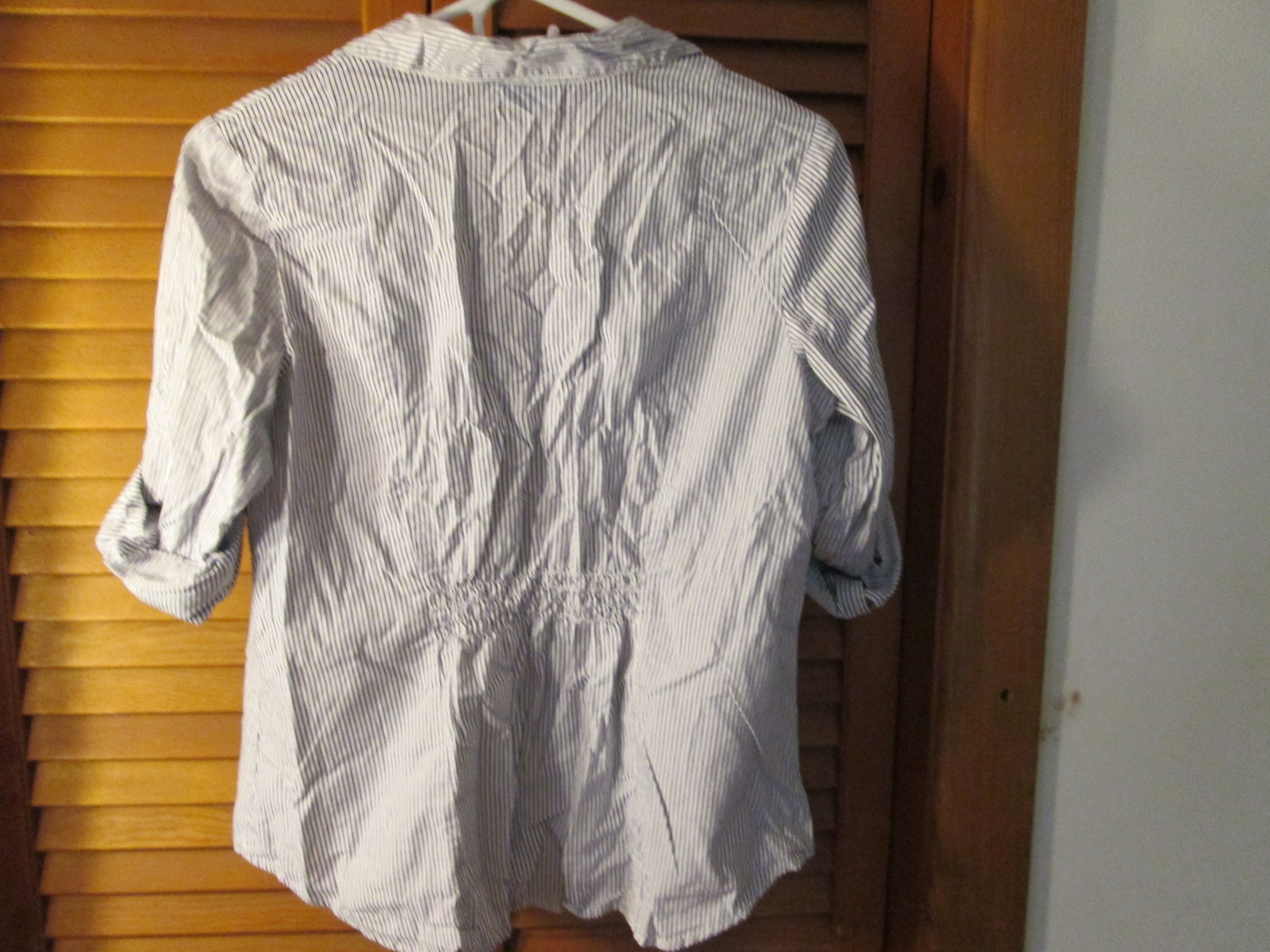 Womens Shirt PM A.N.A Petite Blue & White Striped TF152/ALS