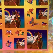 Lisa Frank Complete Sticker Sheet S247Rainbow Chaser Square Style Ooh Lala image 2
