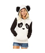 Women Lovely Panda Hoodies Casual Black White Long Sleeve Hoodie Sweatshirt High - $38.40