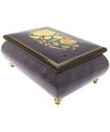 "Italian Music Box, 6"", Floral Inlay, Plum - $219.95"