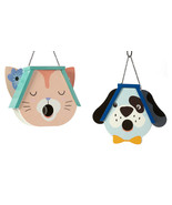 Pet Head Shaped Bird House Detailed w Hole at Mouth - Choice of Dog or C... - $59.99
