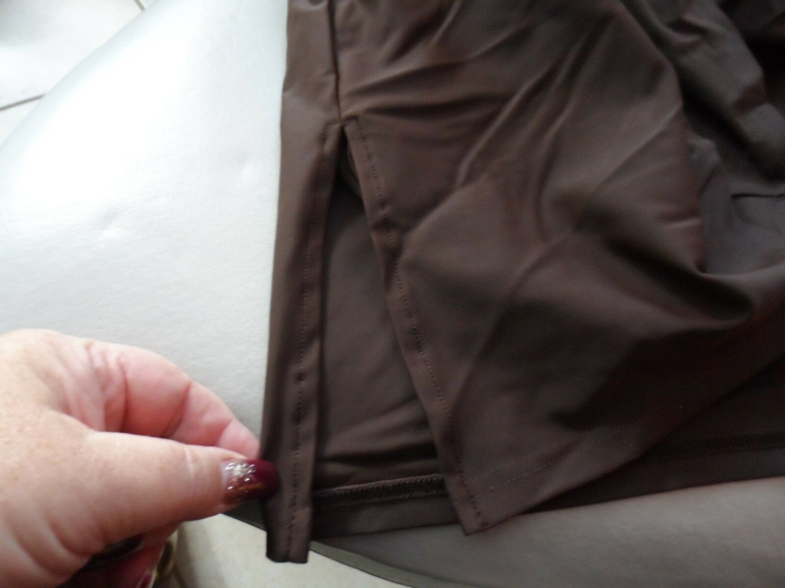 Woman's brown swim skirt size 24W from A Shore Fit NWT image 3