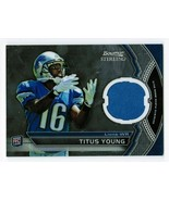 Titus Young 2011 Bowman Sterling BSR-TY Rookie Player Worn Jersey Relic ... - $3.00