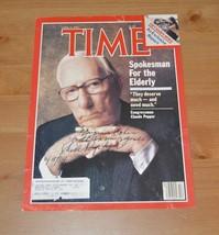 Florida Congressman Claude Pepper autographed Time Magazine cover Elderl... - $49.00