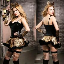 Babydoll Lingerie Underwear Catgirl Cosplay Leopard Costume Role Play Ha... - £41.52 GBP