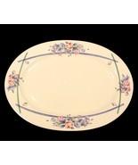 "Pfaltzgraff GateHouse 14"" Oval Platter Blue Pink Floral Ivory China Dinn... - $9.95+"