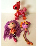 Lalaloopsy Full Size Doll Lot 2 Dolls and Pony Ballerina Pink Yarn Hair - $29.99