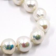 Bracelet or Blanc 18K, Perles Grandes 13 mm, Blanche, Freshwater, Style Baroque image 2
