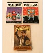 Mad Libs Vintage Lot of 3 Books Indiana Jones Camp Daze Prime Time Never... - $19.99