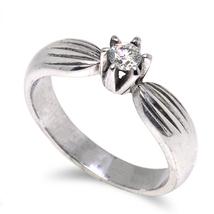 Engagement Diamond Palladium Ring for Women D-5661 - $510.00