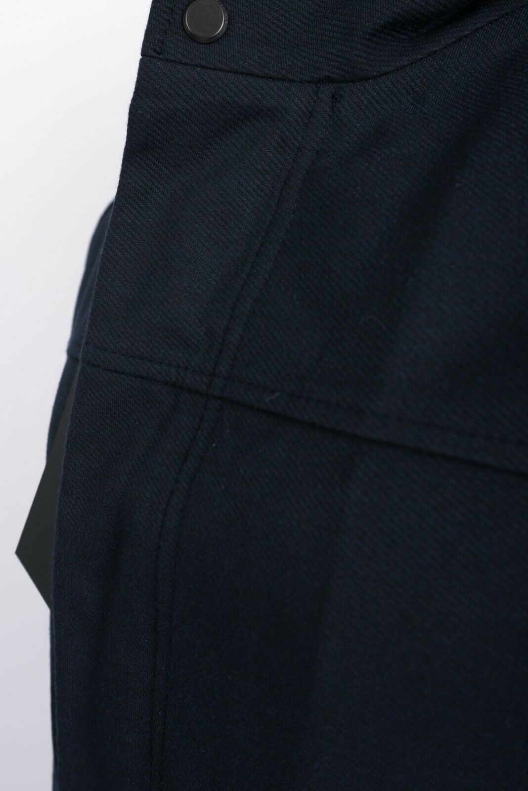 Zara Man Mens Jacket Coat Blazer Removeable Interior Navy Blue Gray Hooded NWT image 2