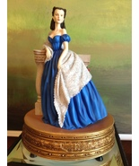 San Francisco Music Box Co - Scarlett Portrait in Blue Dress Gone With t... - $300.00