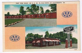 Georgia Postcard Chattsworth Fort View Court Motel - $2.26