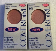 Cover Girl Lip Color Sugar Almond Magnetic Color Pot Refill 010 Lot of 2 - $10.99
