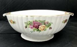 "Royal Albert Old Country Roses 8"" large, Ornate,  Rare Vegetable Bowl - $222.75"