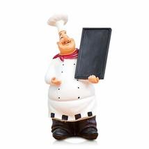 FishMM Resin Decorative Ornaments,Kitchen Decor,Cook Statue,French Chef ... - $24.58