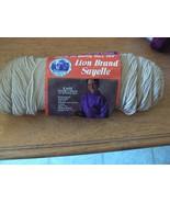 Lion Brand Sayelle yarn 3.5 oz Sandstone color (2 available) - $1.24